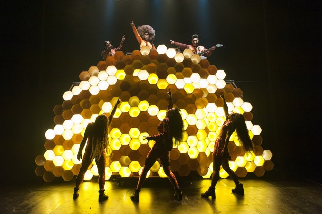 A production shot of Hot Brown Honey at the Edinburgh Festival Fringe